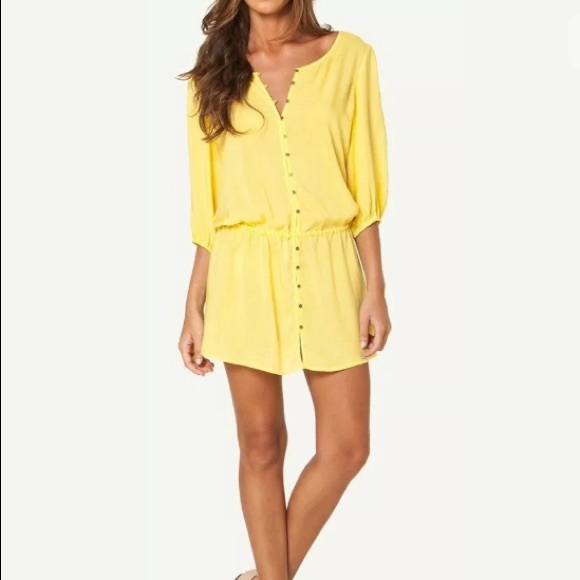76ad30e98f5bf SOFIA by ViX Swim | Nwt Yellow Cover Up Dress | Poshmark